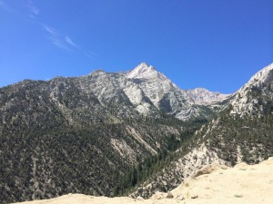 View entering the Whitney Portal from Lone Pine